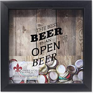 Lawrence Frames 10x10 Black Beer Cap Holder Shadow Box