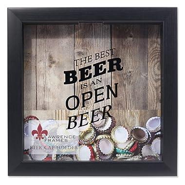 Lawrence Frames 10x10 Black Beer Cap Holder Shadow Box,