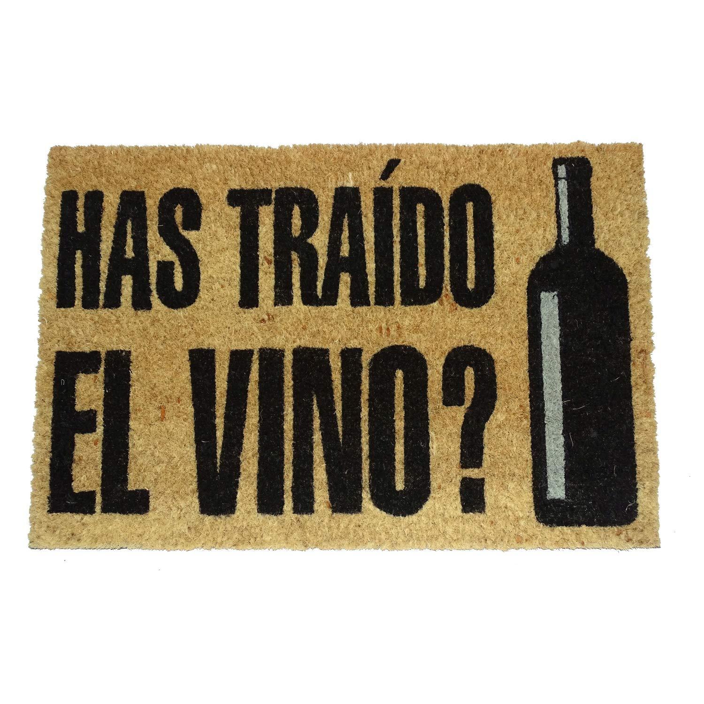 koko doormats - Felpudos Originales y Divertidos para la Entrada de casa - Has traído el Vino? - PVC, Coco, 40 x 60 cm
