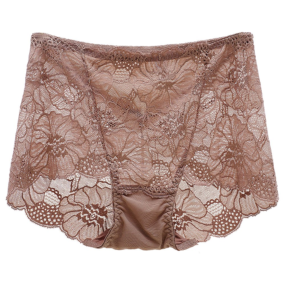 Eastlion Women's Sexy Lace Breathable High Waist Slimming Control Briefs Knickers Underwear