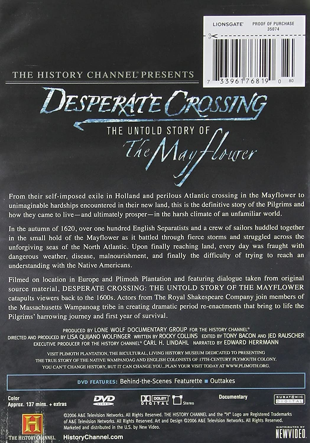 Amazon Desperate Crossing Mayflower Keith Bartlett Paul