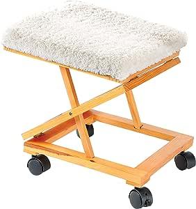 EPC Rolling Adjustable Fold-A-Way Fleece Cushion Foot Rest