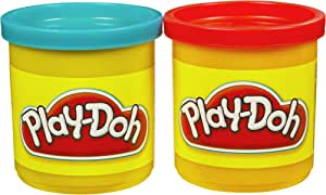 Play-Doh 2-Pack of Cans (Blue and Red)