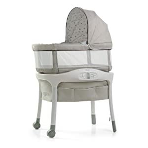 Graco Sense2Snooze Bassinet with Cry Detection Technology | Baby Bassinet Detects and Responds to Baby's Cries to Help Soothe Back to Sleep, Roma