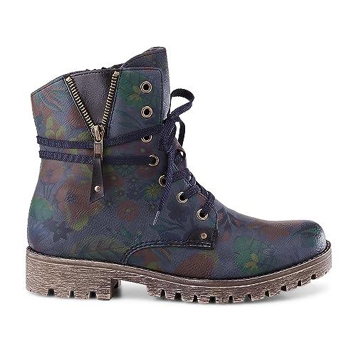0416451f1257b Rieker Women Ankle Boots Blue, (Lake/Schwarz) 78537-15: Amazon.co.uk: Shoes  & Bags