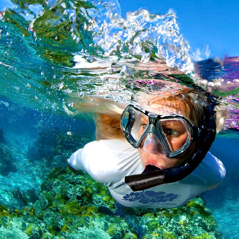 Masque de plong/ée et Tuba avec Dry Top Mixte SEAC Set Sprint Ensemble de Snorkeling pour Adultes et Enfants avec Palmes /à Sangles r/églables