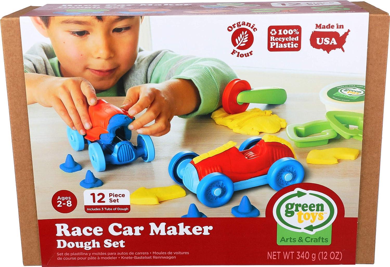 Green Toys Race Car Maker Dough Set Activity