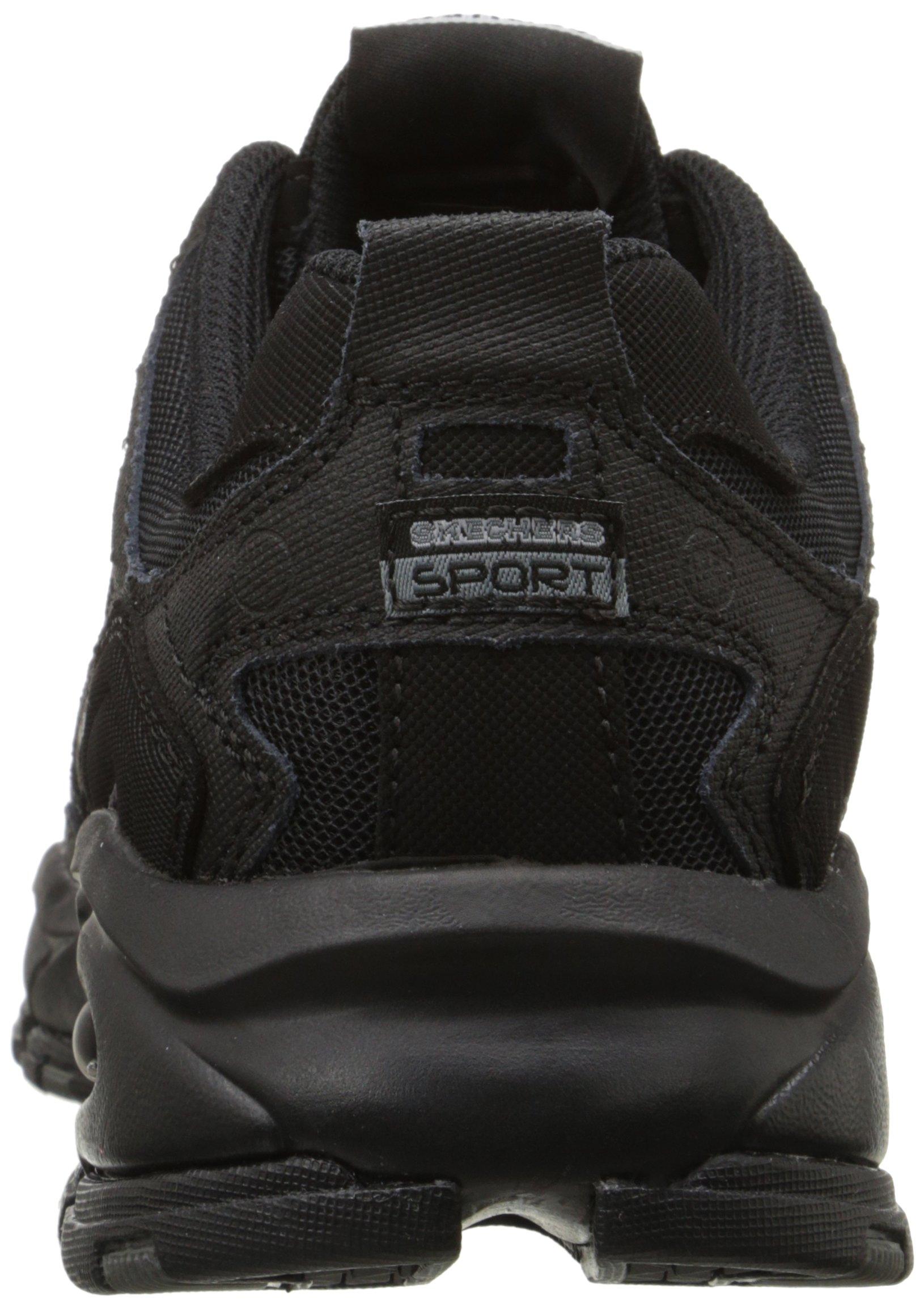 Skechers Sport Men's Vigor 2.0 Trait Memory Foam Sneaker, Black, 12 M US by Skechers (Image #2)