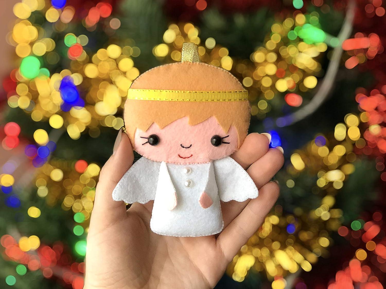 Amazon Com Felt Angel Ornaments Christmas Angel Christmas Decorations Felt Angel Christmas Room Decor Party Favors Handmade