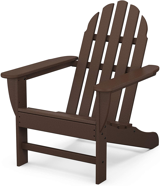 POLYWOOD Classic Adirondack Adirondack Chair, Mahogany