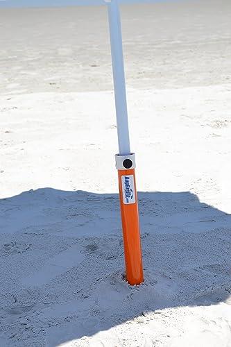 AugHog Products LLC AugBrella Commercial Beach Umbrella Sand Anchor Holder Orange