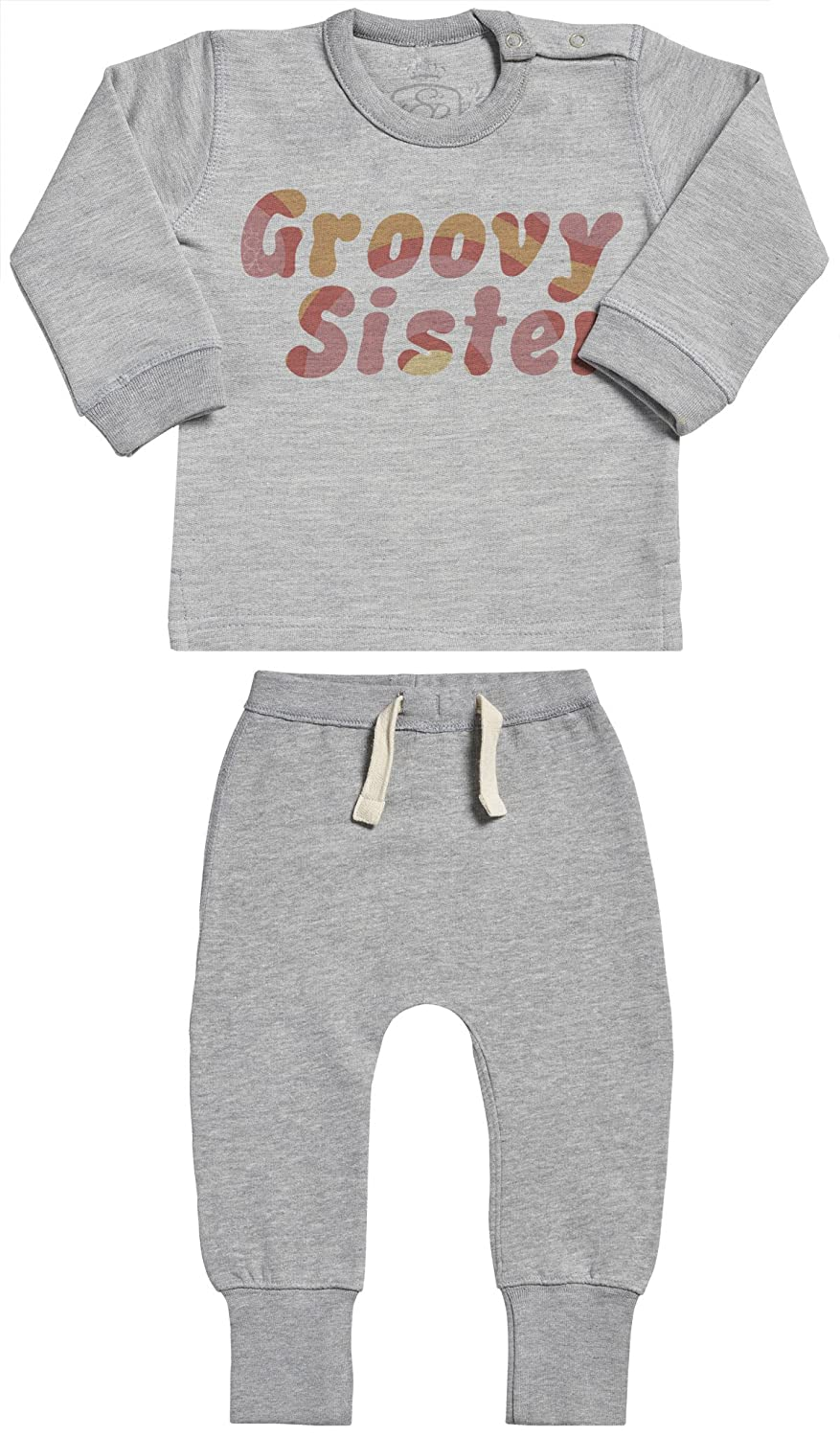 SR Baby Sweater /& Baby Joggers Baby Clothing Outfit Baby Gift Set Groovy Sister Baby Outfit