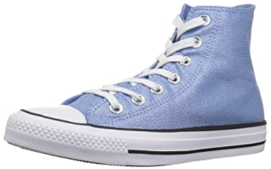 845df60bd4cb Converse Women s Chuck Taylor All Star Shiny Tile HIGH TOP Sneaker Light  Blue White