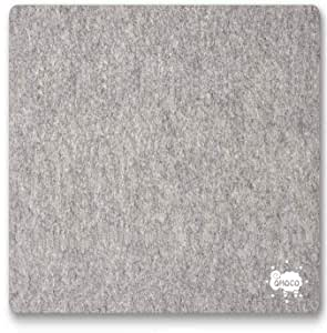 """OHOCO Wool Ironing Mat for Quilting - 17"""" x 17"""" XL Large Felt Ironing Pad 1/2"""" Thick, 100% New Zealand Wool Heat Resistant for Ironing, Sewing, Cutting on Ironing Board, Tabletop, Dryer, Countertop"""