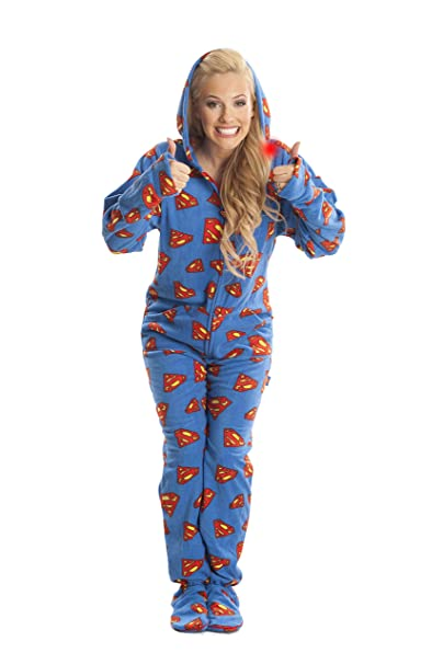 bd4ed8c53 Amazon.com  Jumpin Jammerz Superman Blue   Red Footed Onesie Pajamas ...