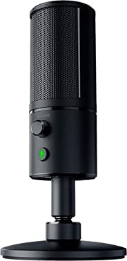 Razer Seiren X USB Streaming Microphone: Professional Grade - Built-In Shock Mount - Supercardiod Pick-Up Pattern - Anodized Aluminum - Matte Black