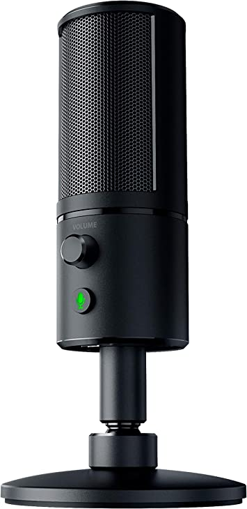 Razer Seiren X Usb Streaming Microphone Professional Grade Built In Shock Mount Supercardiod Pick Up Pattern Anodized Aluminum Classic Black Computers Accessories
