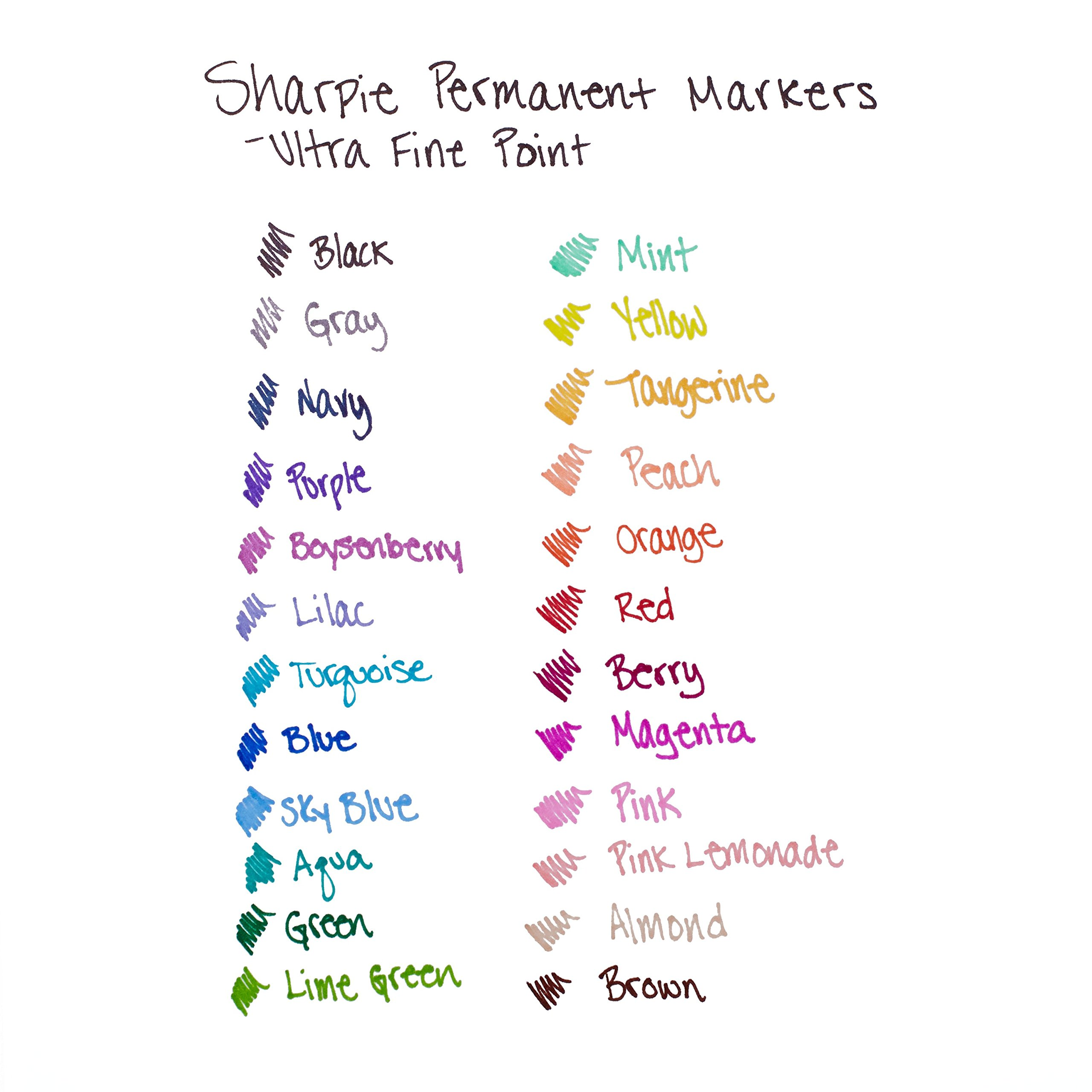 Sharpie 75847 Permanent Markers, Ultra Fine Point, Assorted Colors, 24-Count by Sharpie (Image #4)