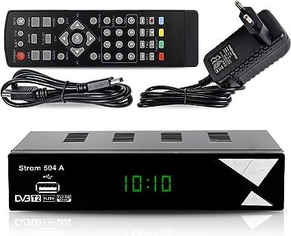 Strom 504 Decodificador Digital Terrestre – TDT / DVB T2 / Full HD / HDMI / Receptor TV / USB / H.265 HEVC / TDT Television / DVB-T2 / 4K: Amazon.es: Electrónica