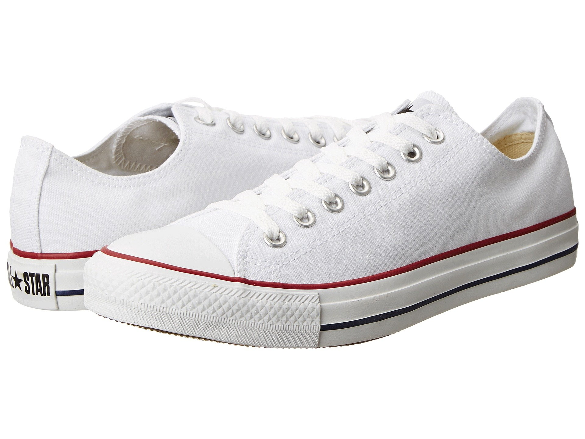 Converse Men's All Star Chuck Taylor M7652 Optical White M7652 Canvas Lo Ox - MEN 5 M US / WOMEN 7 M US by Converse