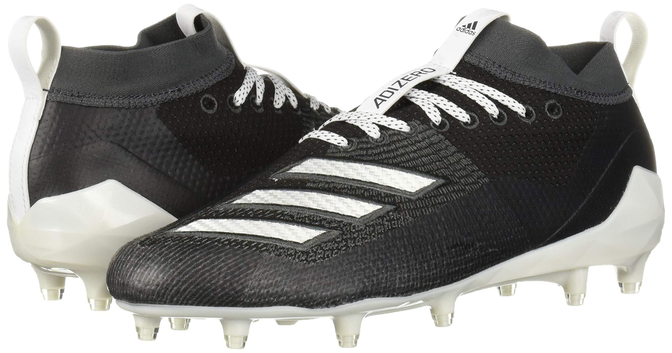 adidas Men's Adizero 8.0 Football Shoe Black/White/Grey 6.5 M US by adidas (Image #6)