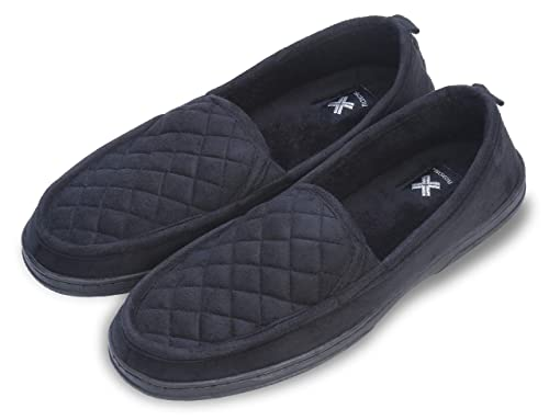 92386832cc8 Roxoni Mens Suede Loafer Slippers  an Elegant Comfort Moccasin Winter House  Shoe Great for Indoor