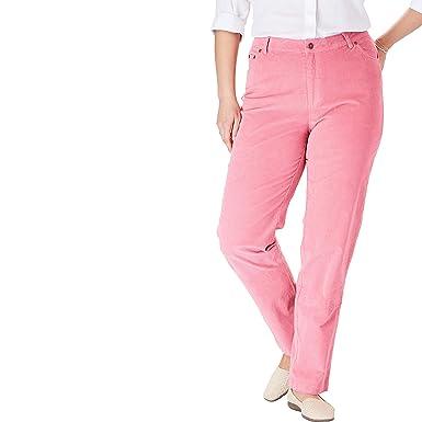 3789c5c7d89 Woman Within Women's Plus Size Corduroy Straight Leg Stretch Pant - Rose  Mauve, ...