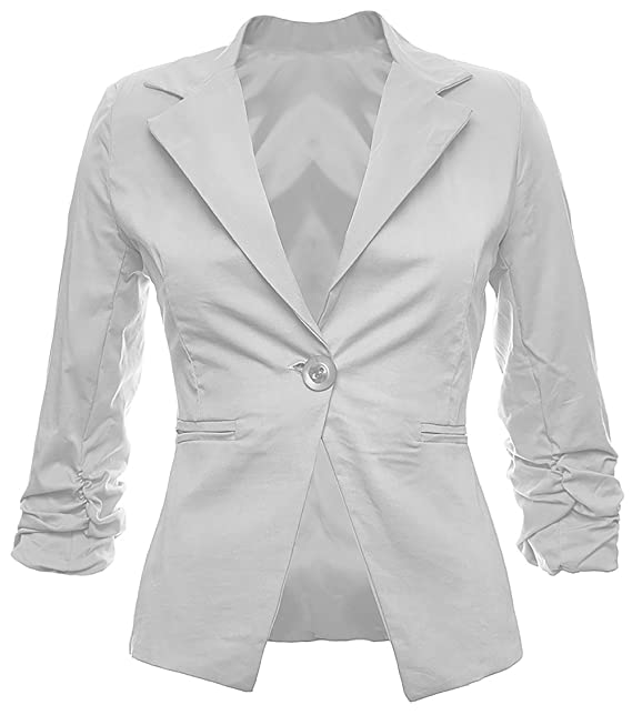 Sambosa Chaquetas Blazer de Mujer Americanas Elegante Algodón Oficina Fiesta Casual Look Disponible en 26 Colores 34 36 38 40 42