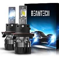 BEAMTECH H13 LED Bulbs,6500K Extremely Super Bright 9008 30mm Heatsink Base CSP Chips Conversion Kit,Xenon White Small…