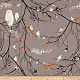 Art Gallery Blithe Jersey Knit Bird Songs Sun Fabric By The Yard