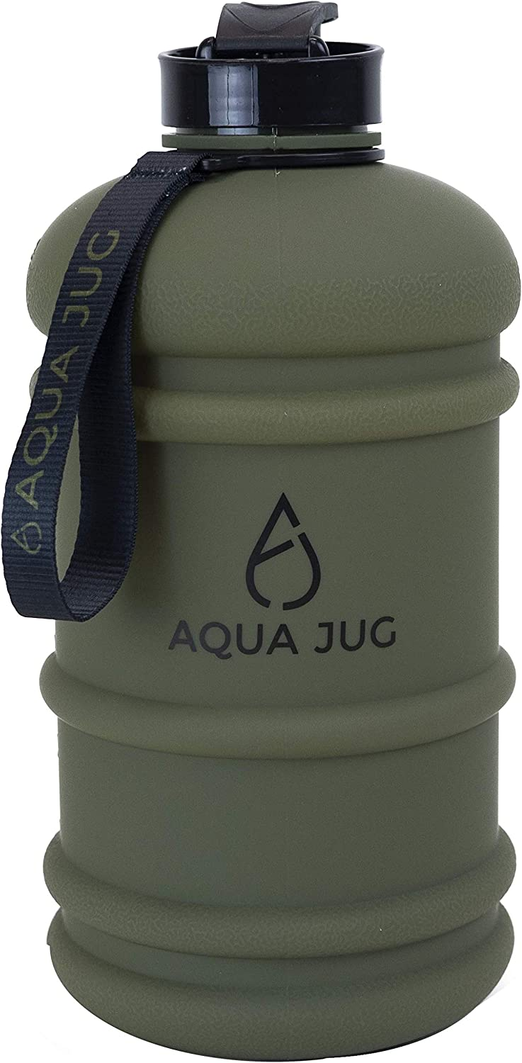 Aqua Jug Big Water Bottle, Dishwasher Safe BPA Free Drinking Water, 2.2L, Great for Gym Fitness Workout Sports Hiking and More