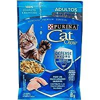 Ração Úmida Nestlé Purina Cat Chow para Gatos Adultos sabor Peixe - 85g Purina para Todas Todos os tamanhos de raça…