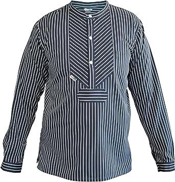 Herren Größe XS modAs Fischerhemd Skipper breiter Streifen  für Damen u XXXL