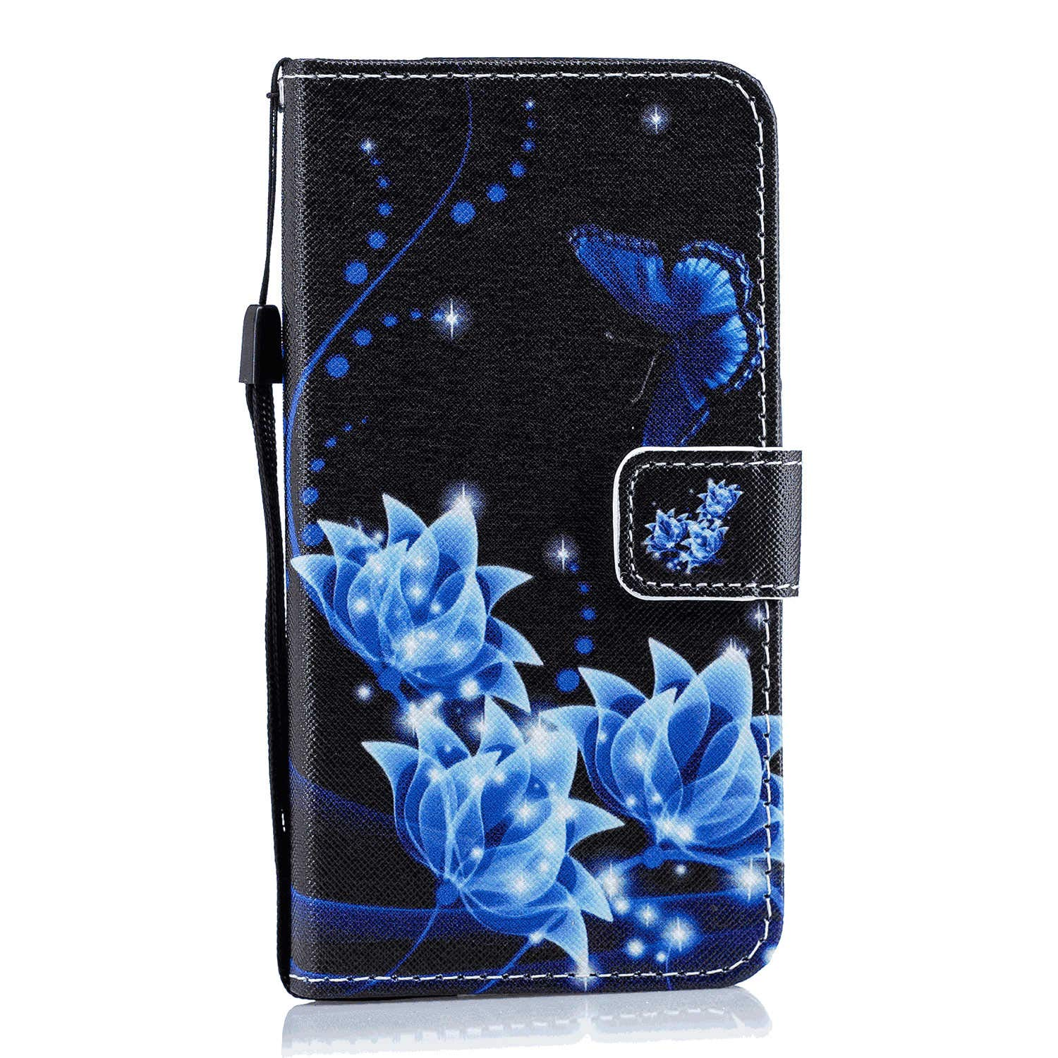 Cover for Huawei MATE20 PRO Leather Extra-Durable Business Kickstand Mobile Phone Cover Card Holders with Free Waterproof-Bag Blue4 Huawei MATE20 PRO Flip Case