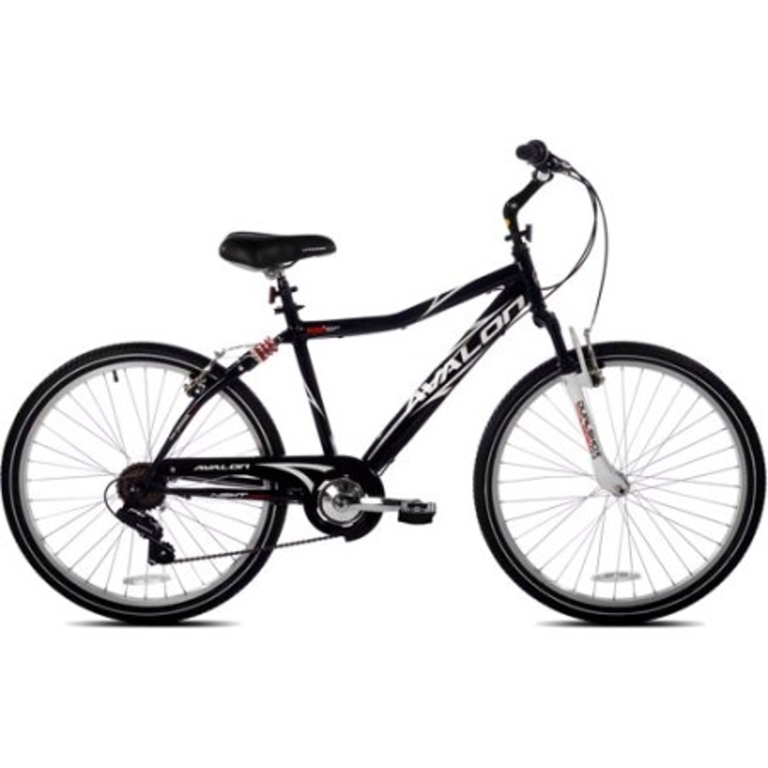 Bike with Full Suspension 26'' NEXT Avalon Men's Comfort Bicycle, Black