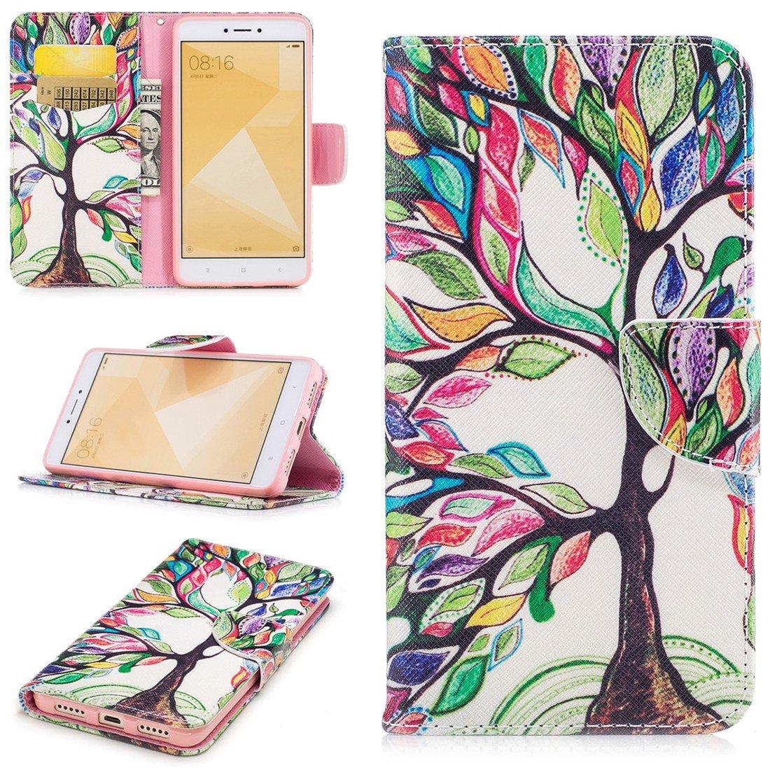 buy online c3ebb 0dcdb Amazon.com: Xiaomi Redmi Note 4X Case, ANGELLA-M PU Leather Wallet ...