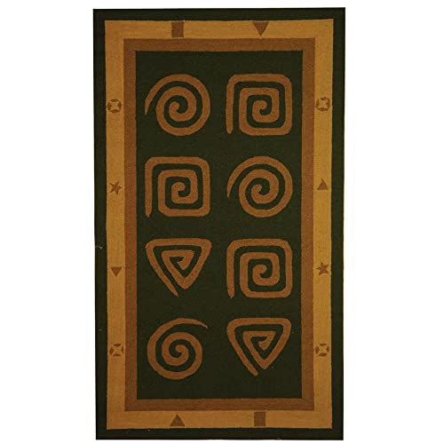 Safavieh Chelsea Collection HK211D Hand-Hooked Green Premium Wool Area Rug 2 9 x 4 9
