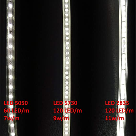 Tira Led de 220v 2835 120 Led/m ALTA LUMINOSIDAD, con INTERRUPTOR. IMPERMEABLE Blanco Frío/Neutro/Cálido Waterproof IP67 strip (Blanco Frío, ...
