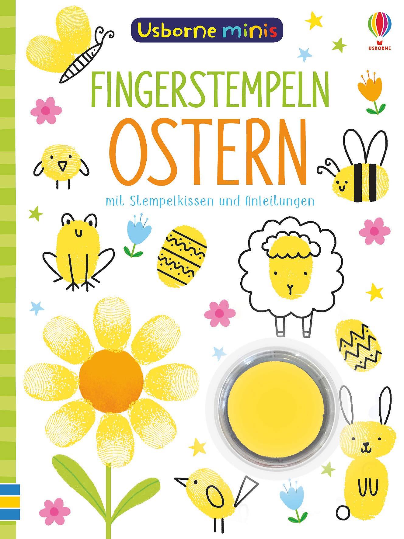 Usborne Minis  Fingerstempeln Ostern  Mit Stempelkissen Und Anleitungen