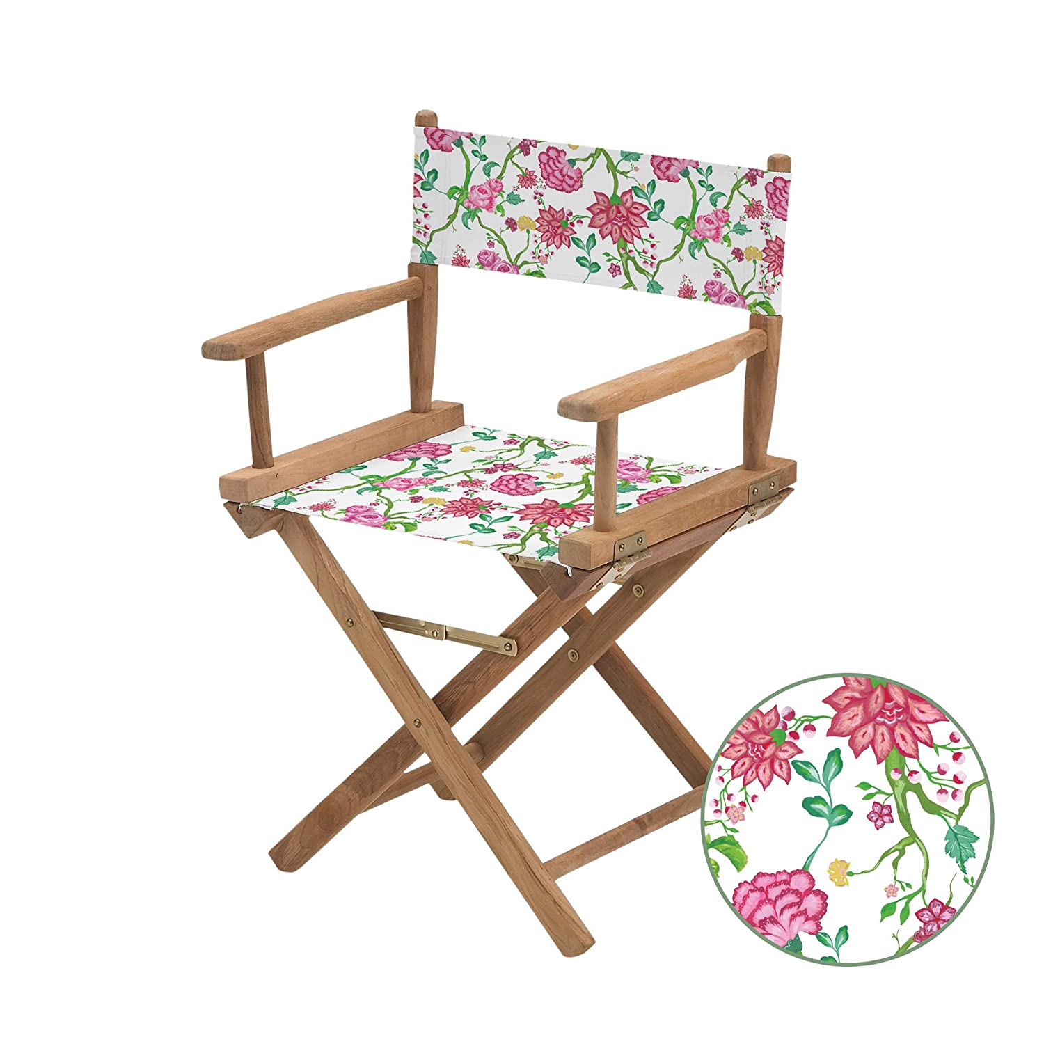 Gardenista Water Resistant Chintz White Design Replacement Cover for Directors Chair