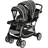 Graco Ready2Grow LX Stroller | 12 Riding Options | Accepts 2 Graco SnugRide Infant Car Seats, Glacier