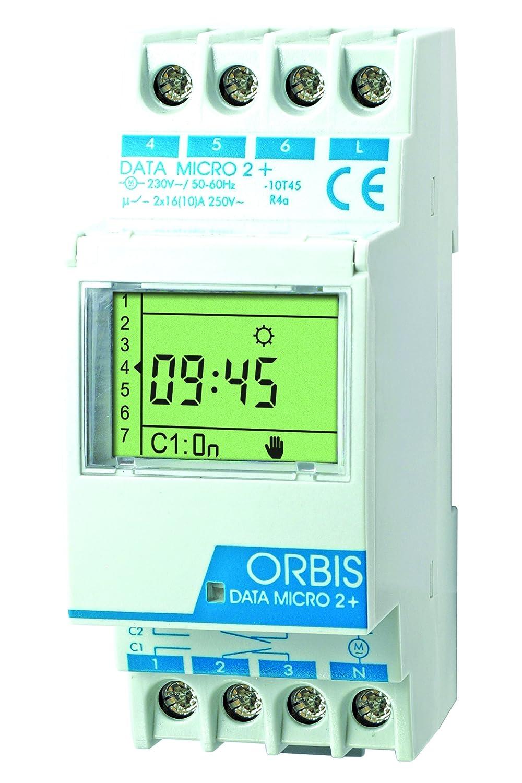 Orbis Data Micro-2 Plus 230 V Interruptor horario Digital de Distribuidor, OB171912N