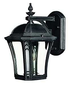 Hinkley 1336MB Traditional One Light Wall Mount from Wabash collection in Blackfinish,