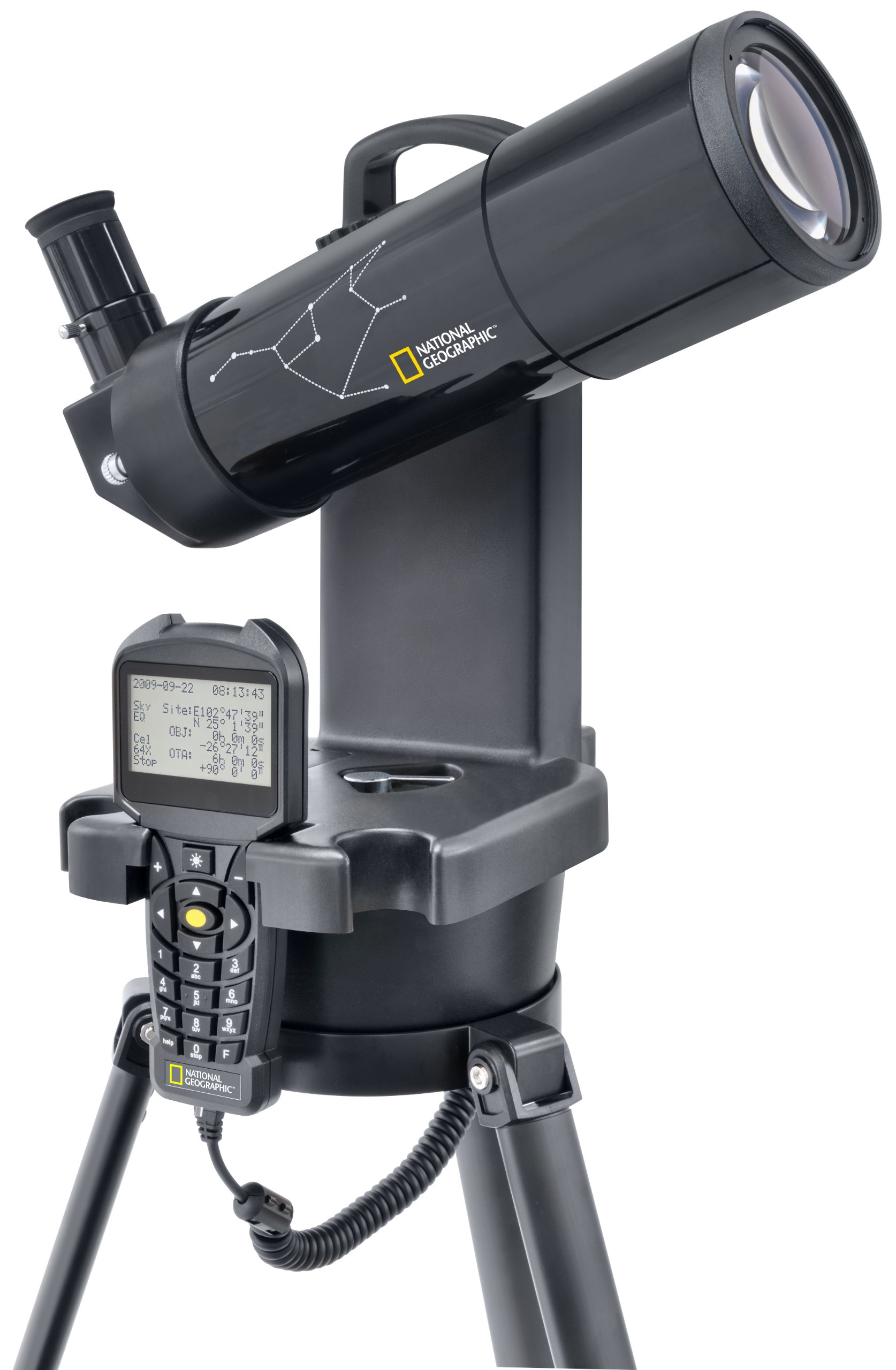 National Geographic Refractor Telescope | Computerized Telescope For Adults with Tripod | 70Mm Front Lens with 17.5X-35X Magnification