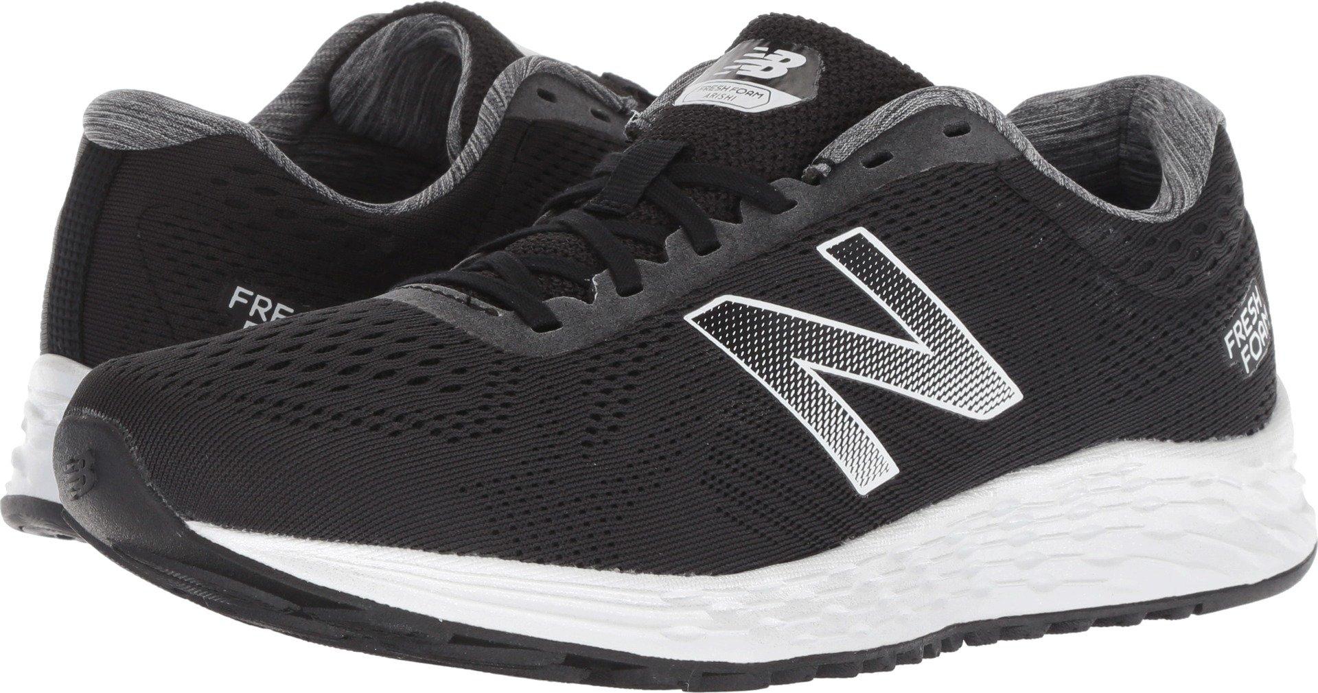 New Balance Women's Fresh Foam Arishi V1 Running Shoe, Black/White 5 B US