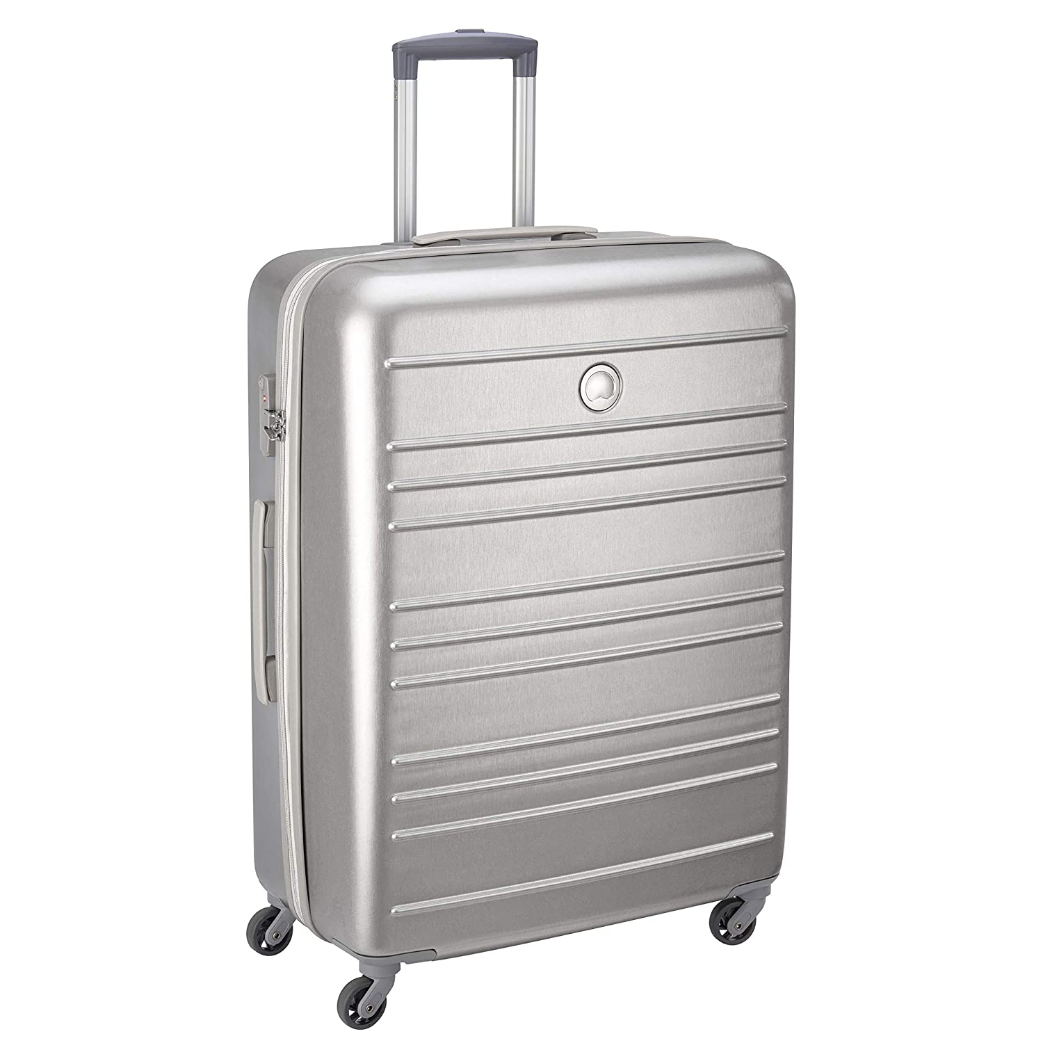 Delsey ABS 76 cms Silver Hardsided Cabin Luggage (00344582121)