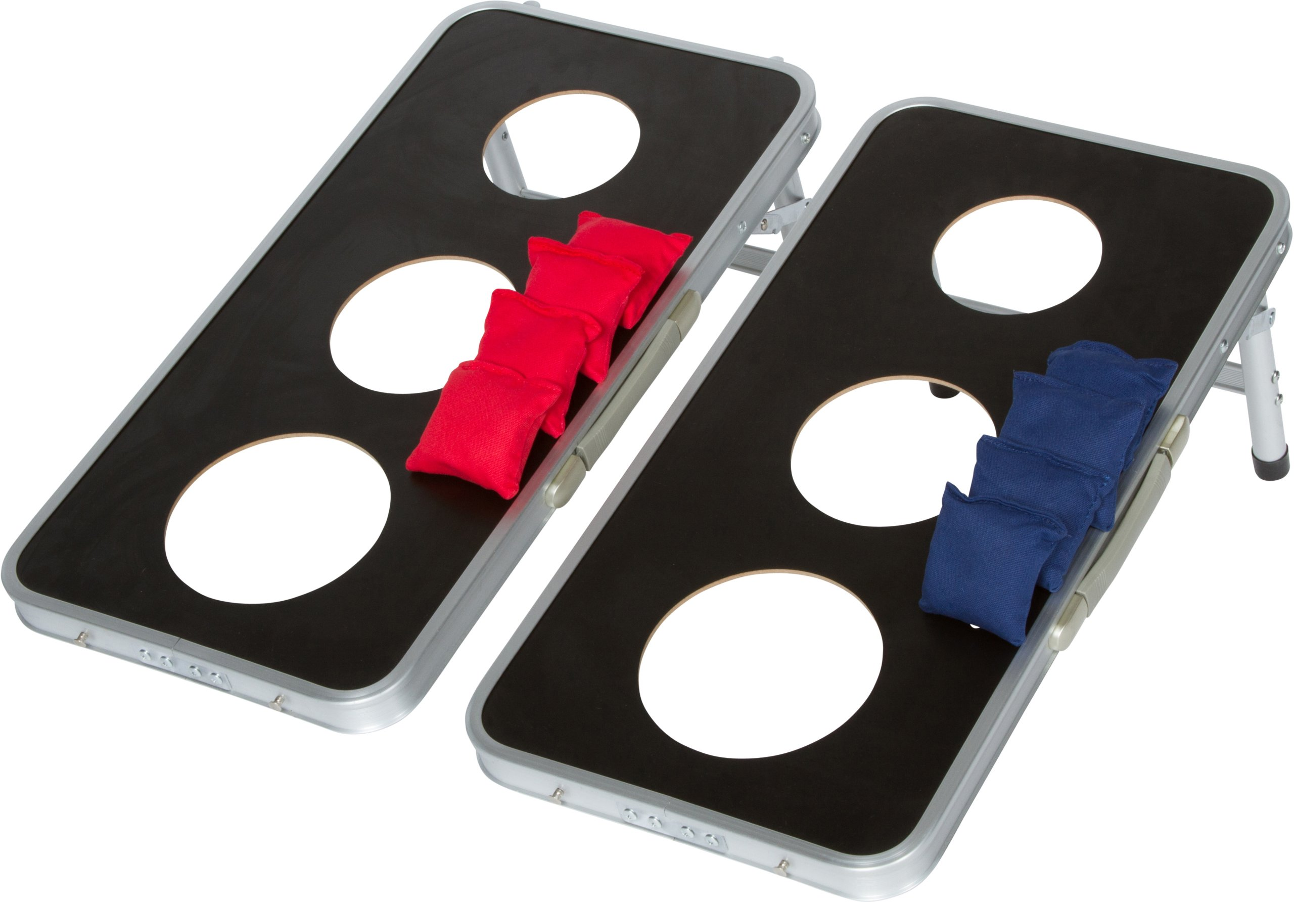 Trademark Innovations 3-Hole Aluminum Frame Cornhole Bean Bag Toss Set