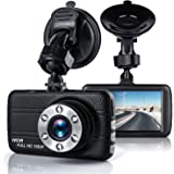 """Dash Cam,Bekhic Dash Camera for Cars with 3.0"""" TFT Display, Full HD 1080P, 170 Degree Super Wide Angle Cameras, Built-in Night Vision, WDR, Loop Recording,G-Sensor"""