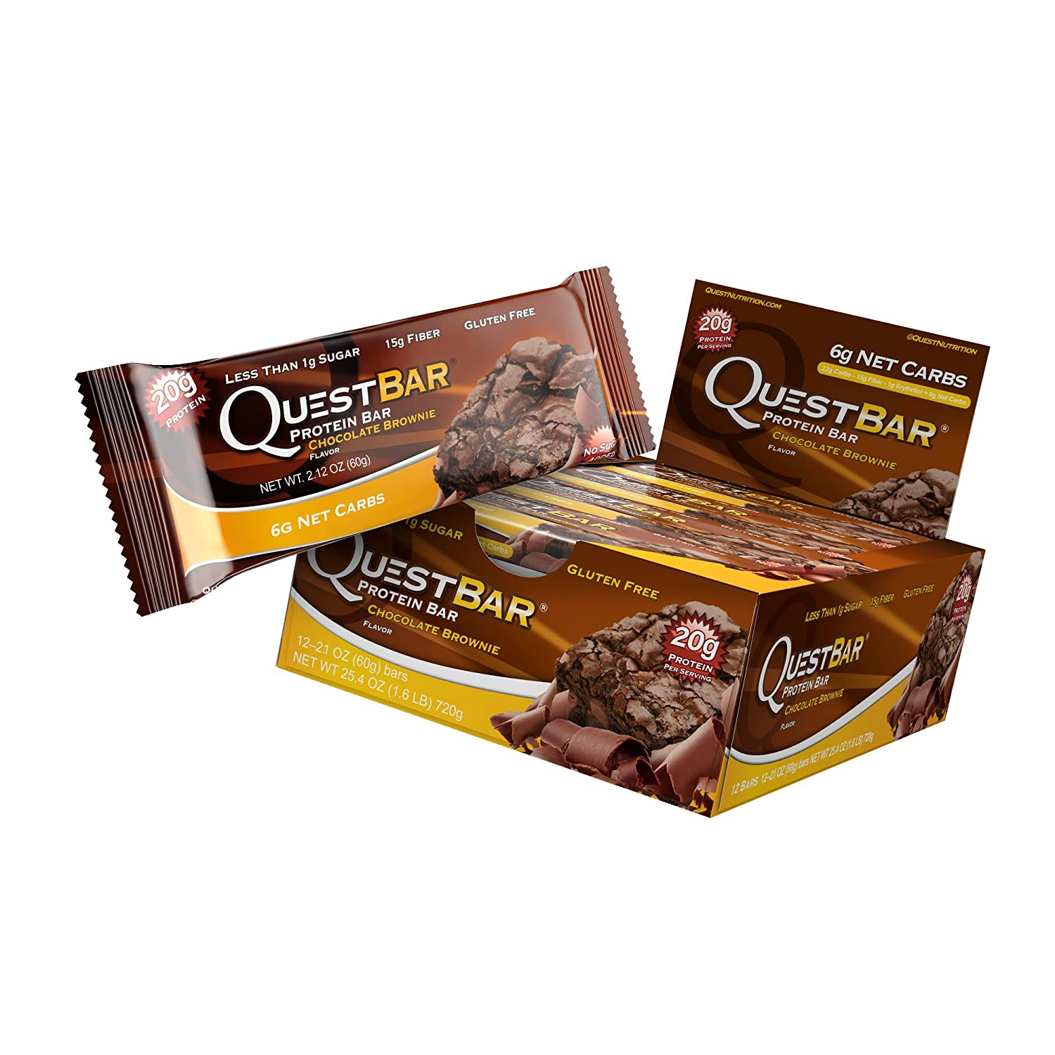Amazon.com: Quest Nutrition Protein Bar, Chocolate Brownie, 20g ...