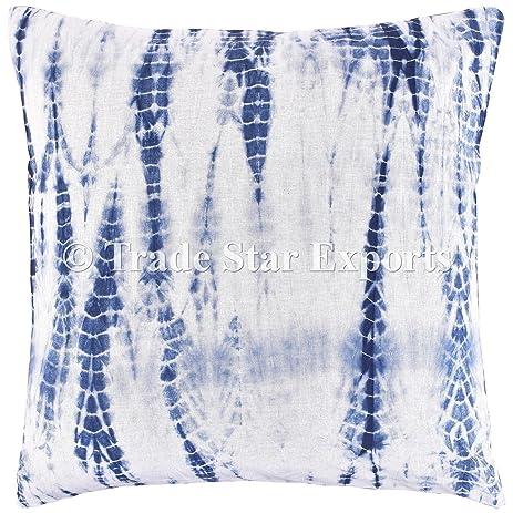 sham pillows pillow blue product followmeinstead shams indigo stripes shibori by